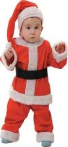 beb disfrazado de pap noel