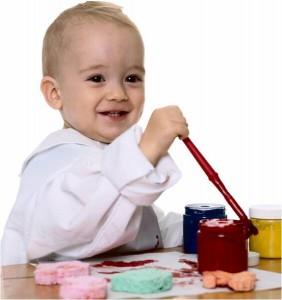 Los bebés y el arte...
