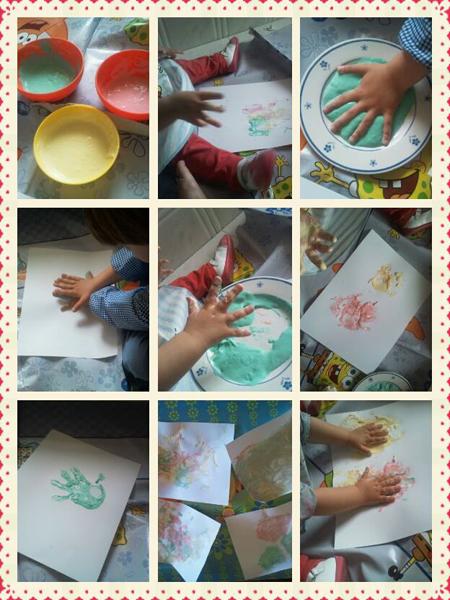 Actividad para nios Pintar con harina y agua de colores Diario