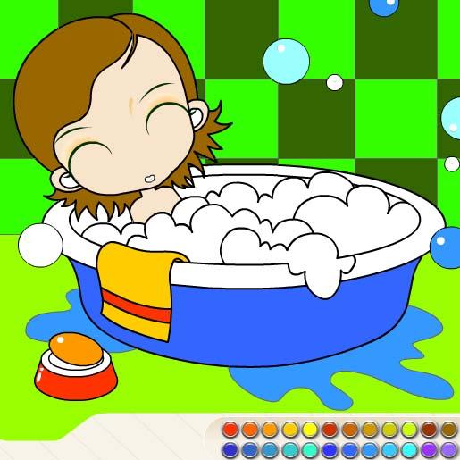 Bañarse dibujo - Imagui